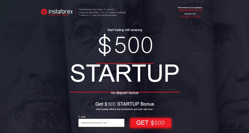 InstaForex StartUp Bonus